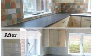 چطور کاشیهای آشپزخانه را رنگ کنیم