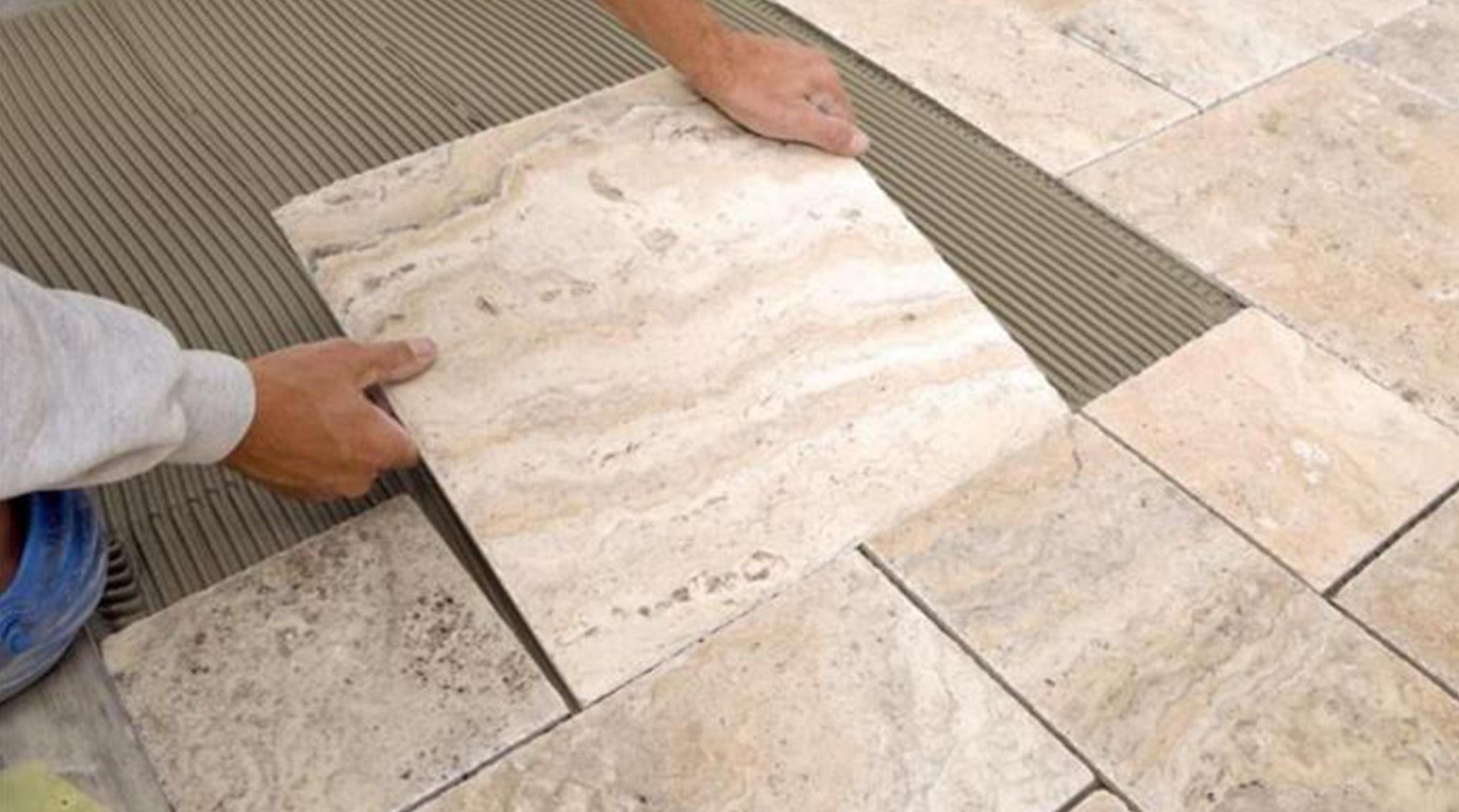 روش های نصب کاشی پرسلان در نما و کف ساختمان