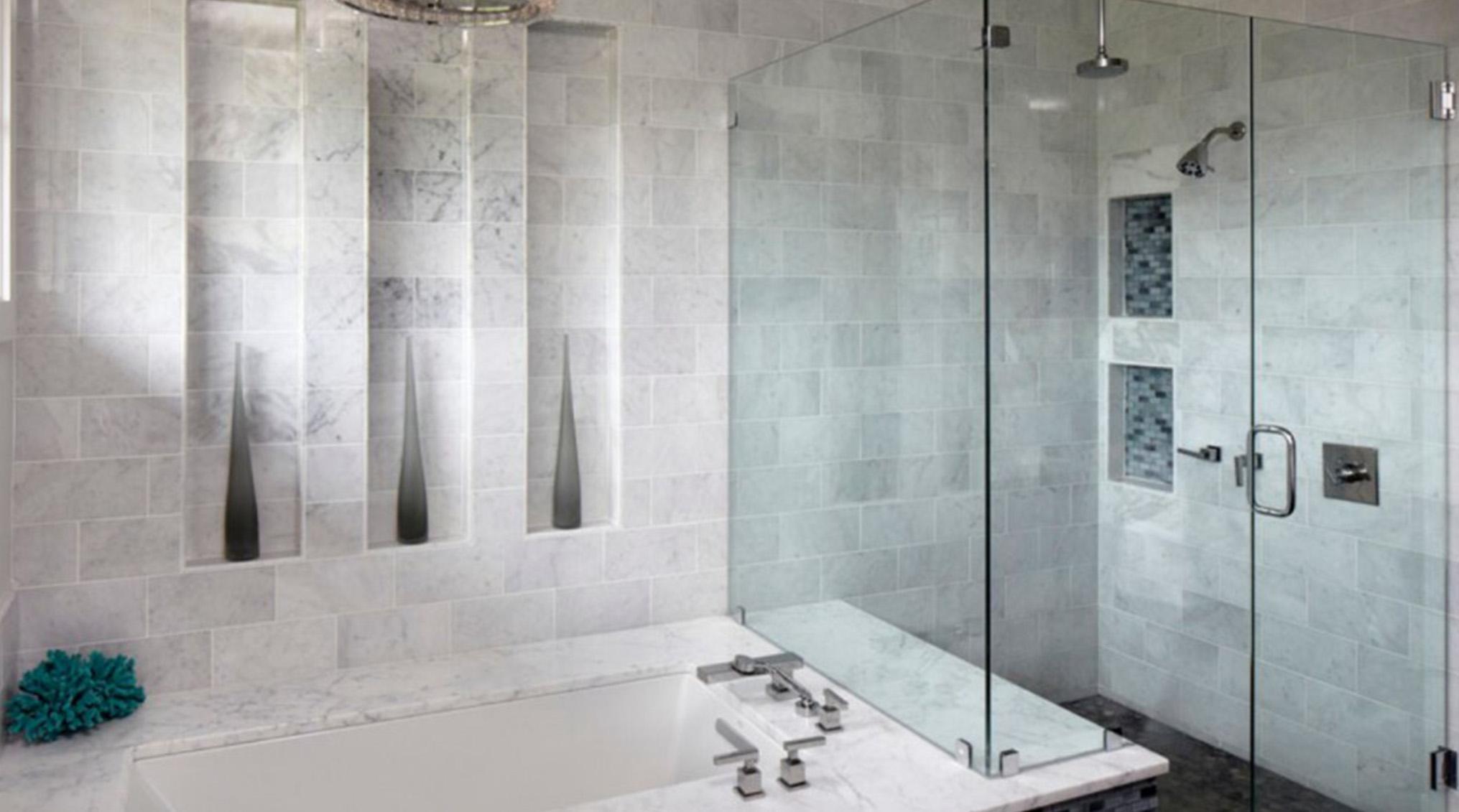 شیشه دور دوشی برای جلوگیری از رسوب کاشی و سرامیک حمام و سرویس بهداشتی