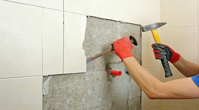 نحوه تخریب کاشی های دیواری