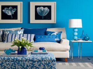 چطور از رنگ آبی در خانه خود استفاده کنیم